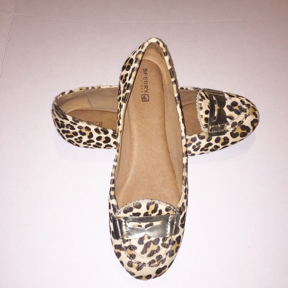 44bf83c2b70 Sperry Top-sider Brooks Leopard Pony Hair Flats